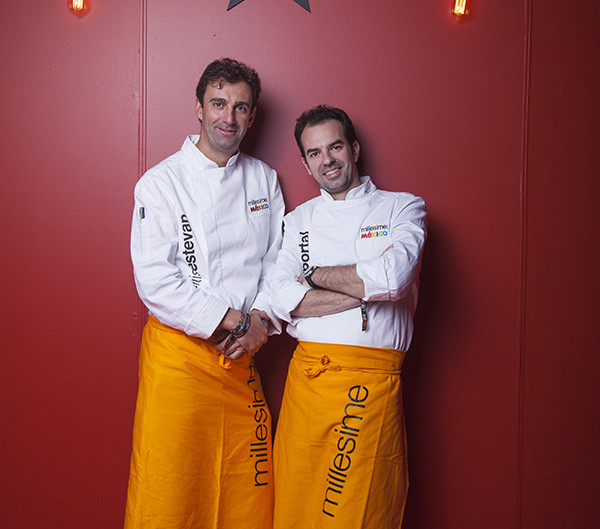 J Le Stevan y Oscar Portal