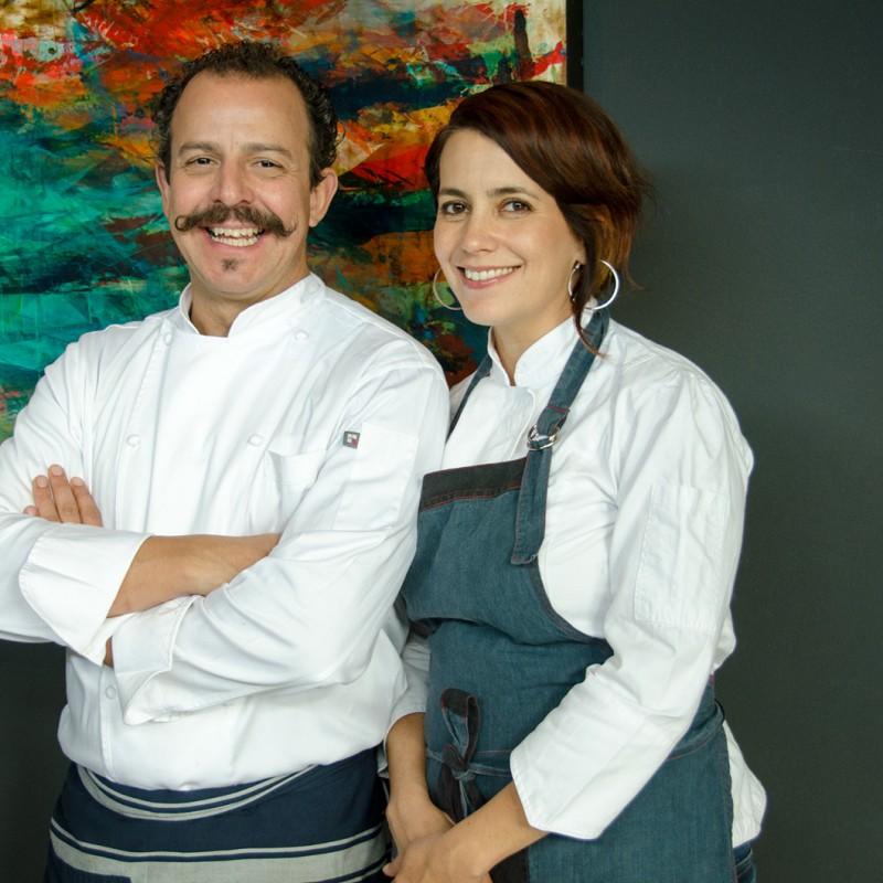 Solange Muris y Benito Molina