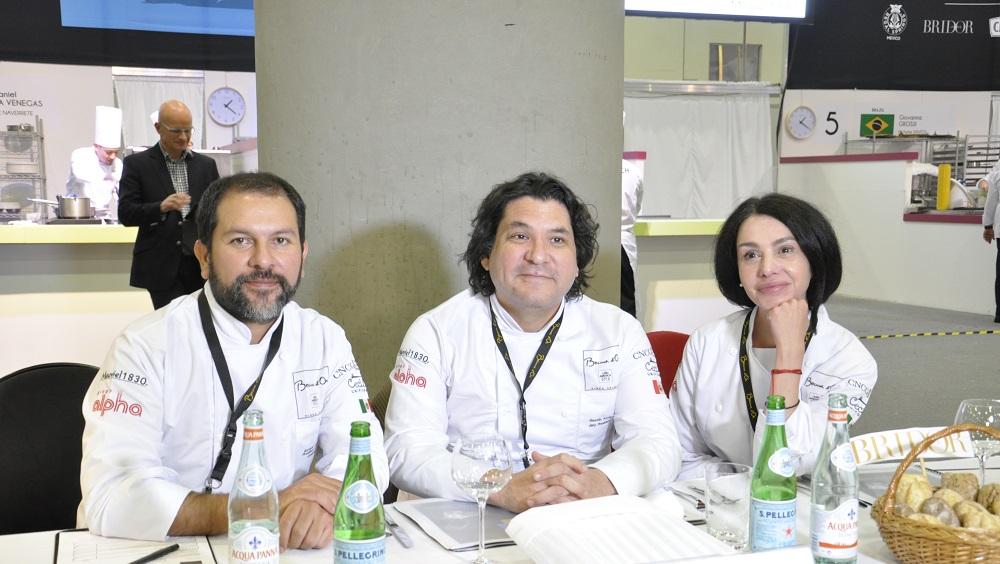 Enrique Olvera, Gastón Acurio y Martha Ortiz. Jurado principal del certamen
